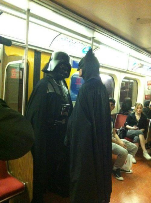 It's about to get real on the subway....