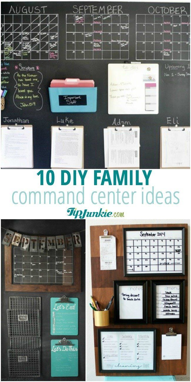 10 Diy Family Command Center Ideas Family Command Center