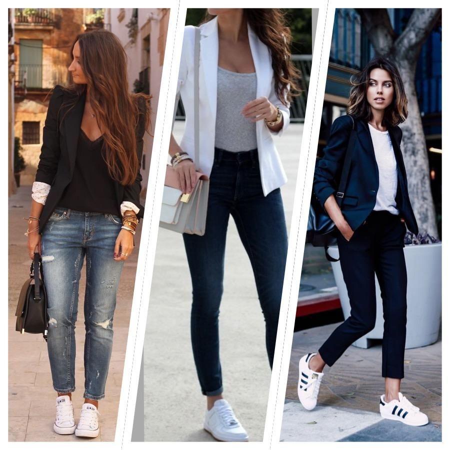 23 looks inspiradores con zapatillas blancas te apuntas in 2018 fashion trends pinterest. Black Bedroom Furniture Sets. Home Design Ideas