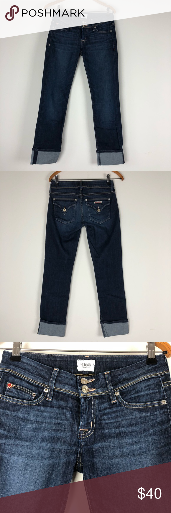 621eb248316 No holes or stains. Waist 14.5 Long 35 Inseam 27.5 143H Hudson Jeans Jeans  Straight Leg