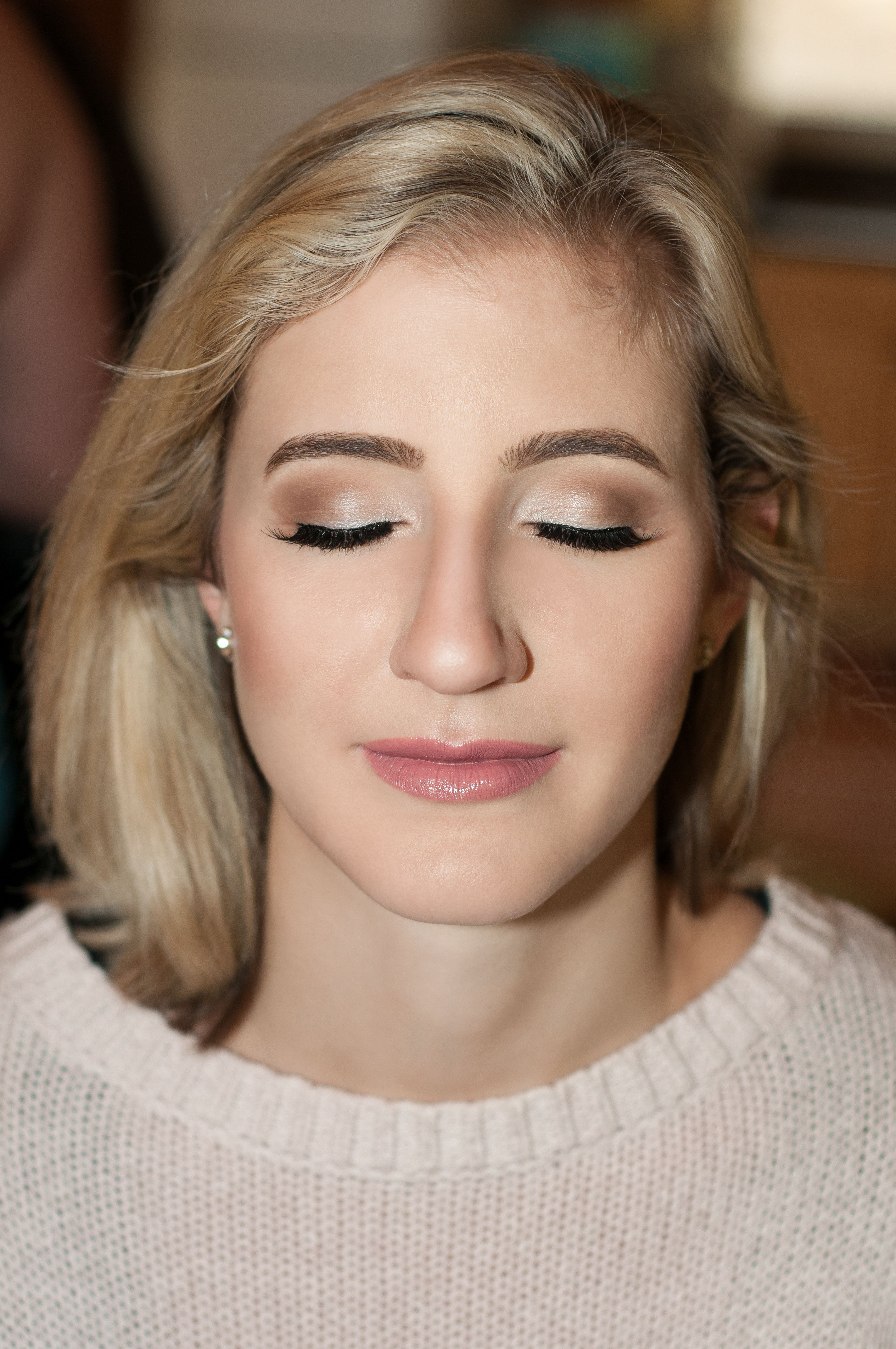 Bridal Make Up With Mac Eyeshadows And Mac Lipstick In Faux