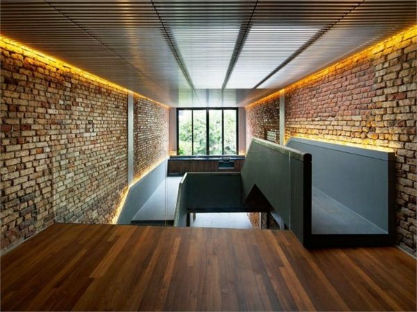 Backsteinwand-modernes Hausdesign | Wohnen | Pinterest ...