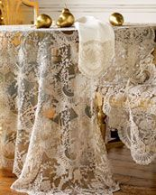 "CHANTILLY LACE TABLE LINENS       Take 20% Off  ""RIBBON"" TABLE LINENS"