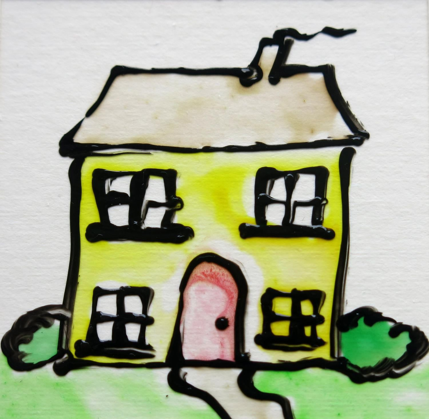 New home card new house card greeting card birthday card new home card new house card greeting card birthday card blank card house card handmade glass painted card uk seller kristyandbryce Gallery