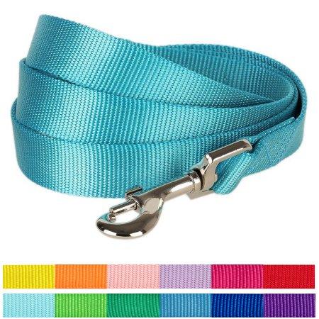 "Nylon Dog Leash 5//8/"" Inch Wide Small to Medium Pet Lead 7-Ft Long Blue"