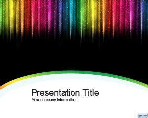 color rain powerpoint template | digital graphics | pinterest, Modern powerpoint