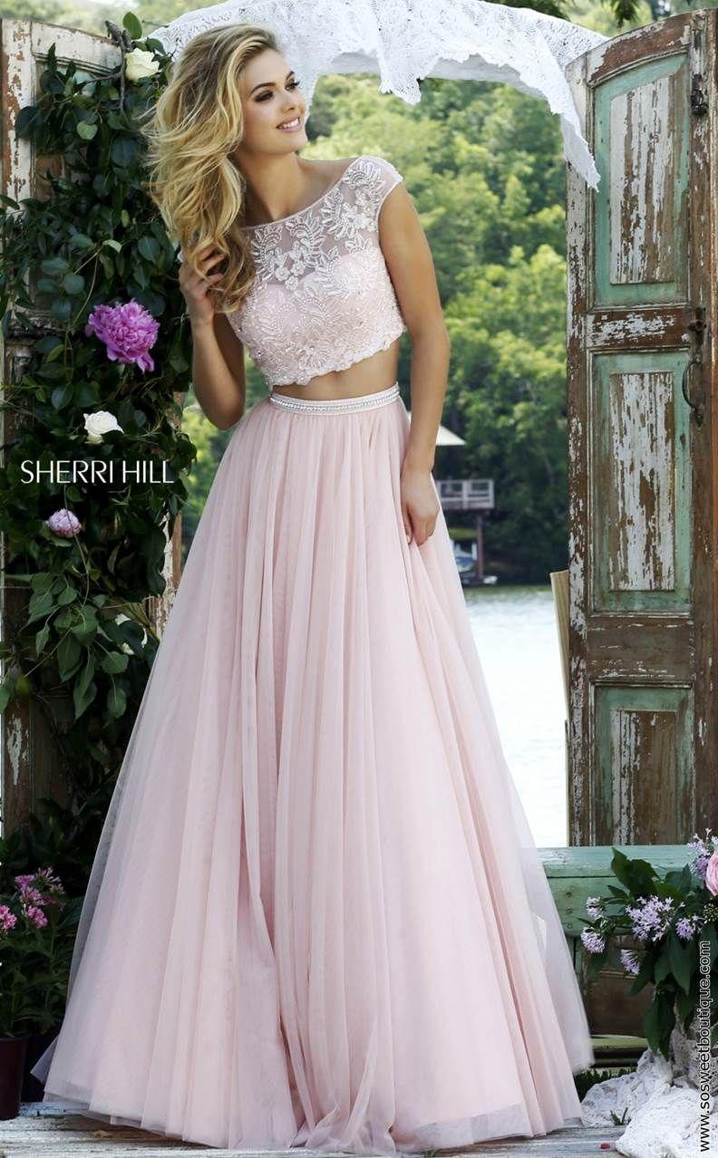 Sherri Hill Prom Dresses 2016 Style 50038 Piece Prom Dress Prom Dresses Long Evening Dresses