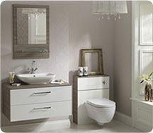 Shades Bathrooms Aspen White Modular Bathroom Furniture