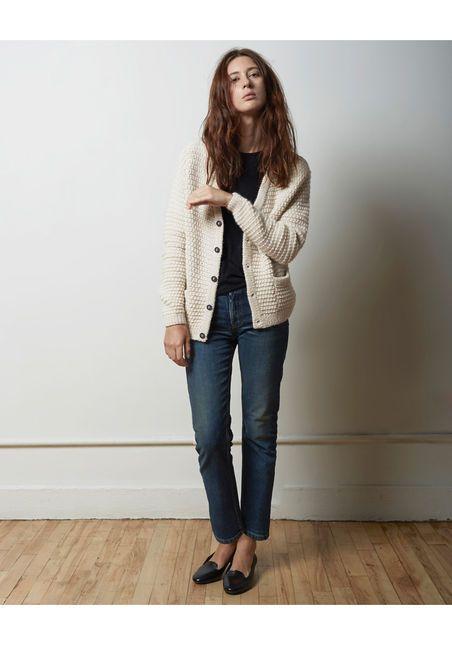 La Garçonne Moderne Sylvia Alpaca Handknit Cardigan
