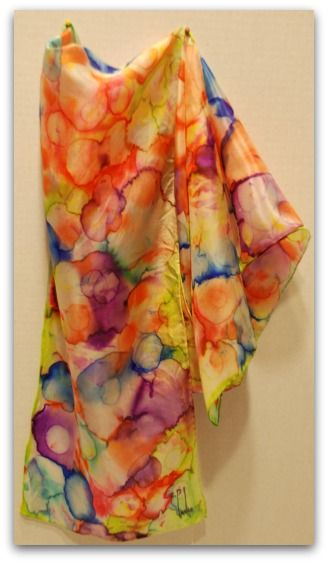 Hand painted silk scarves are fun and easy to do. Results are amazingly  beautiful. A creative activity for the whole family! 991226f6c0c