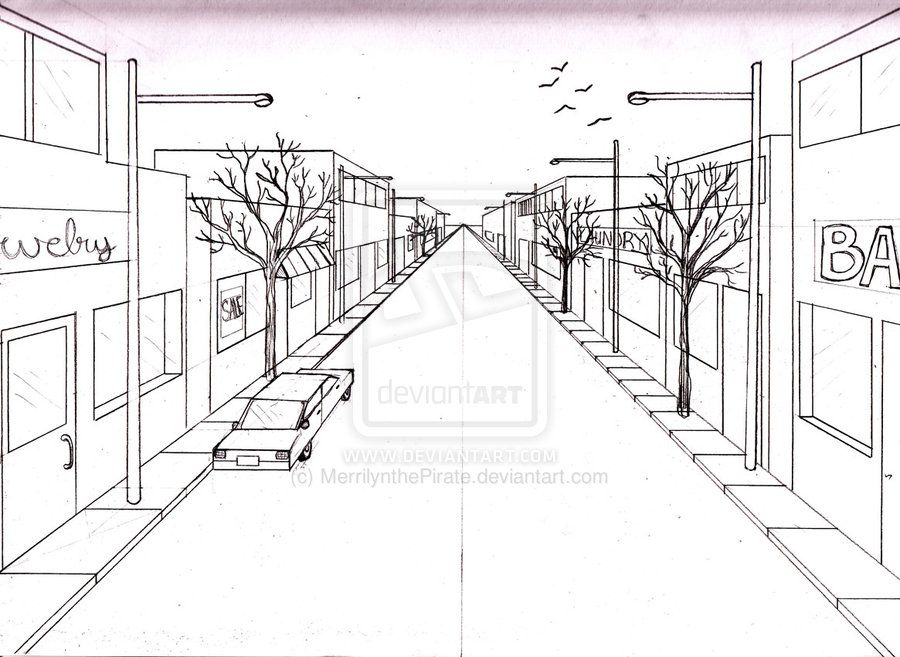 Elements to incorporate in a perspective drawing of a