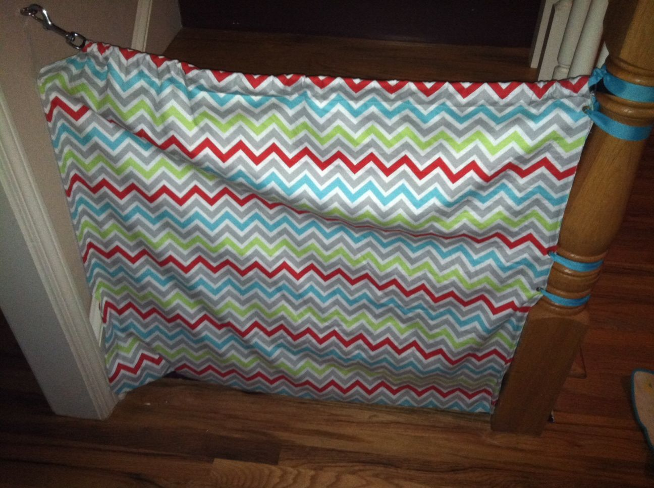 Fabric Baby Gate For A Difficult Stairway Heavy Duty Velcro At The