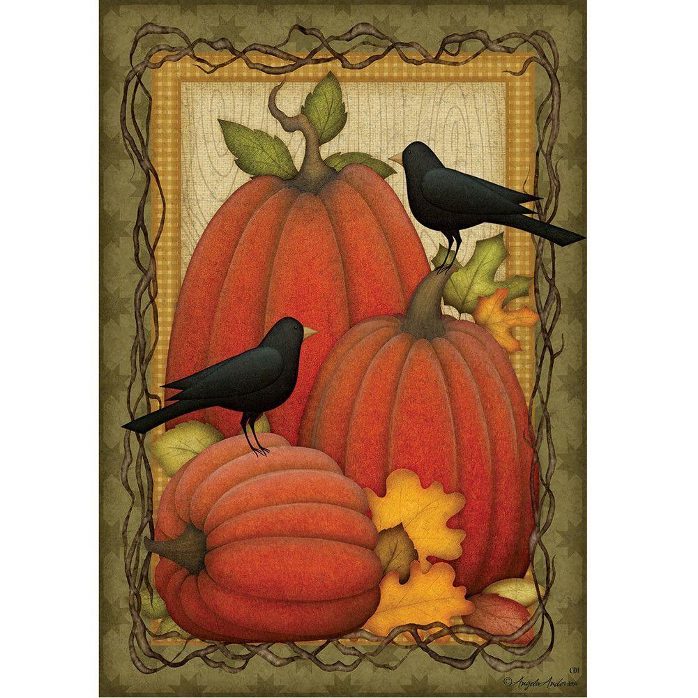 Pumpkin Patch Crows Flag