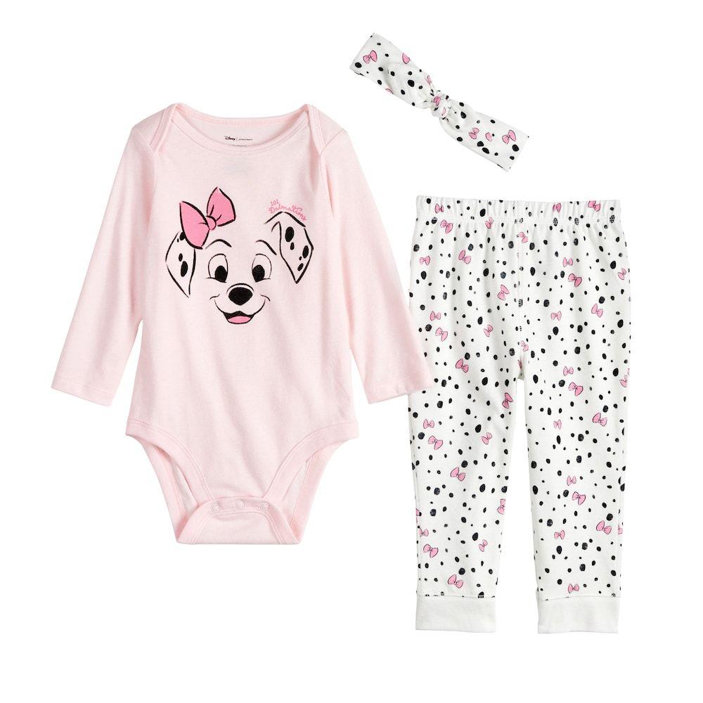 Disney S 101 Dalmatians Baby Girl Bodysuit Pants Headband Set By Jumping Beans Baby Girl Bodysuit Girls Bodysuit Kids Disney Outfits