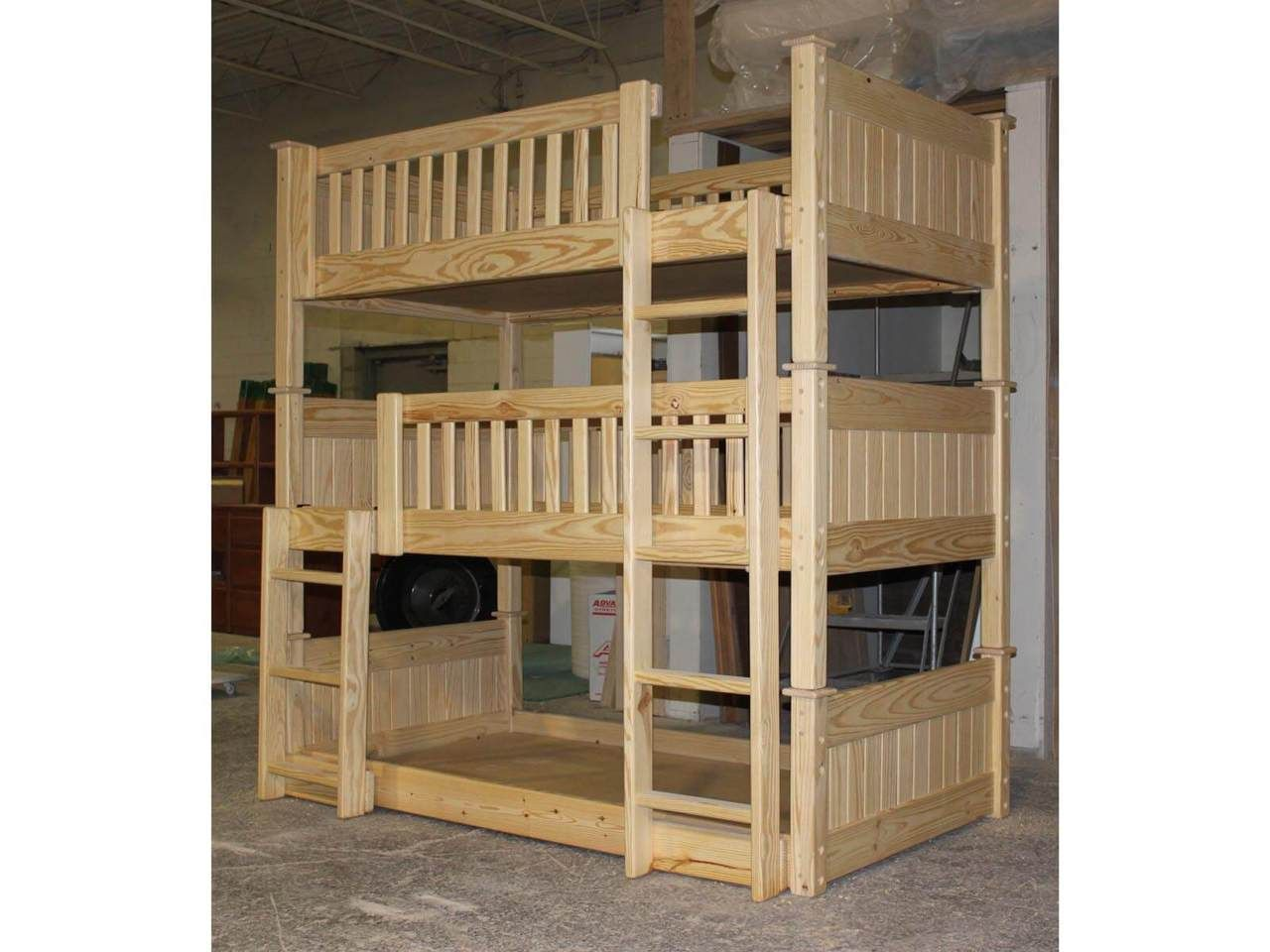 Photo of Triple Bunk Bed B64 - Unfinished