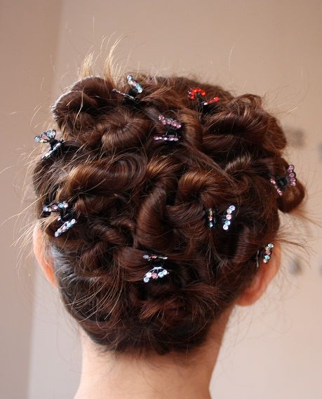 hair twists updo and butterfly