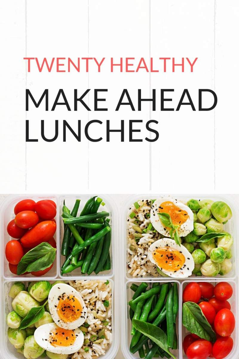 Twenty Healthy Make Ahead Lunches images