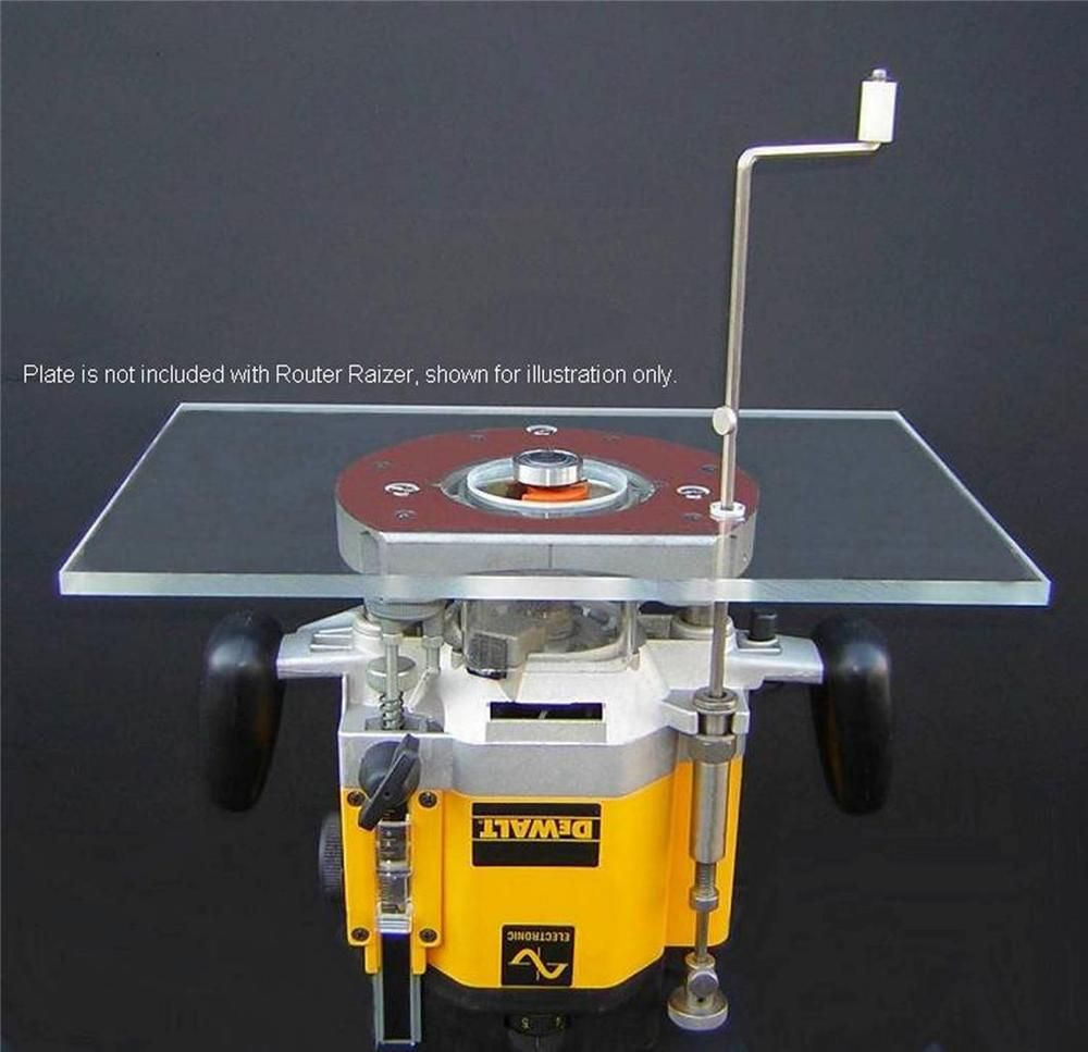 Use this to make your Router Table with Plunge Router adjust from