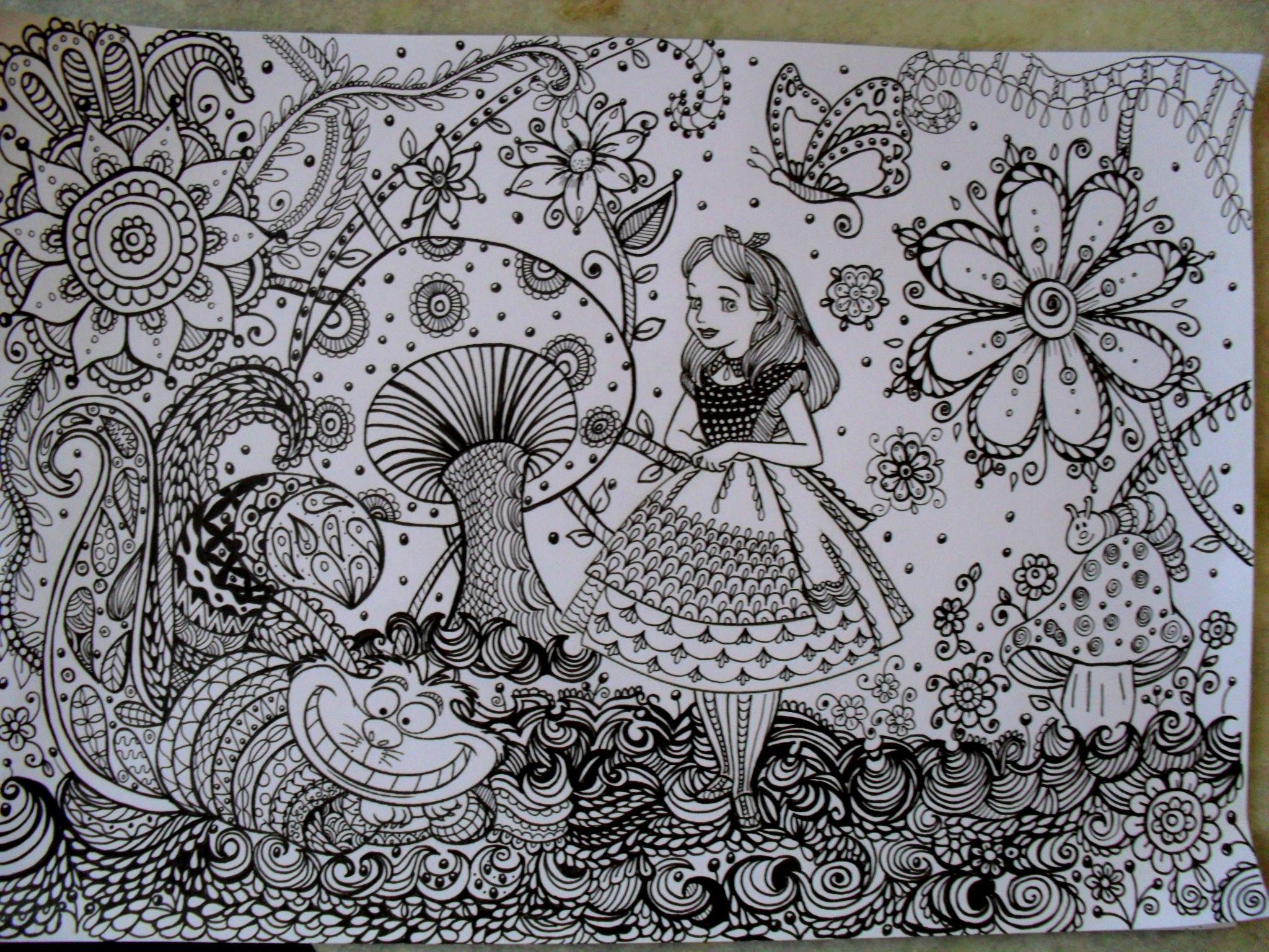 Alice in Wonderland https://www.facebook.com/ariane.naranjo #doodle ...