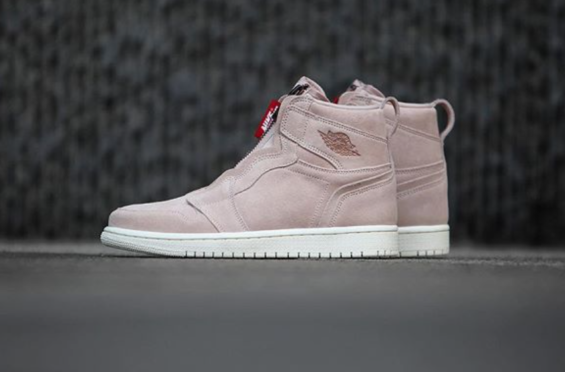 4cd5371be2ba Release Reminder  Air Jordan 1 WMNS High Zip Particle Beige A new women s  iteration of