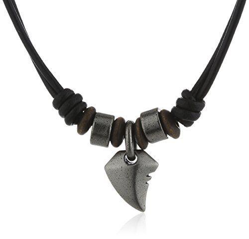 Halskette leder mann