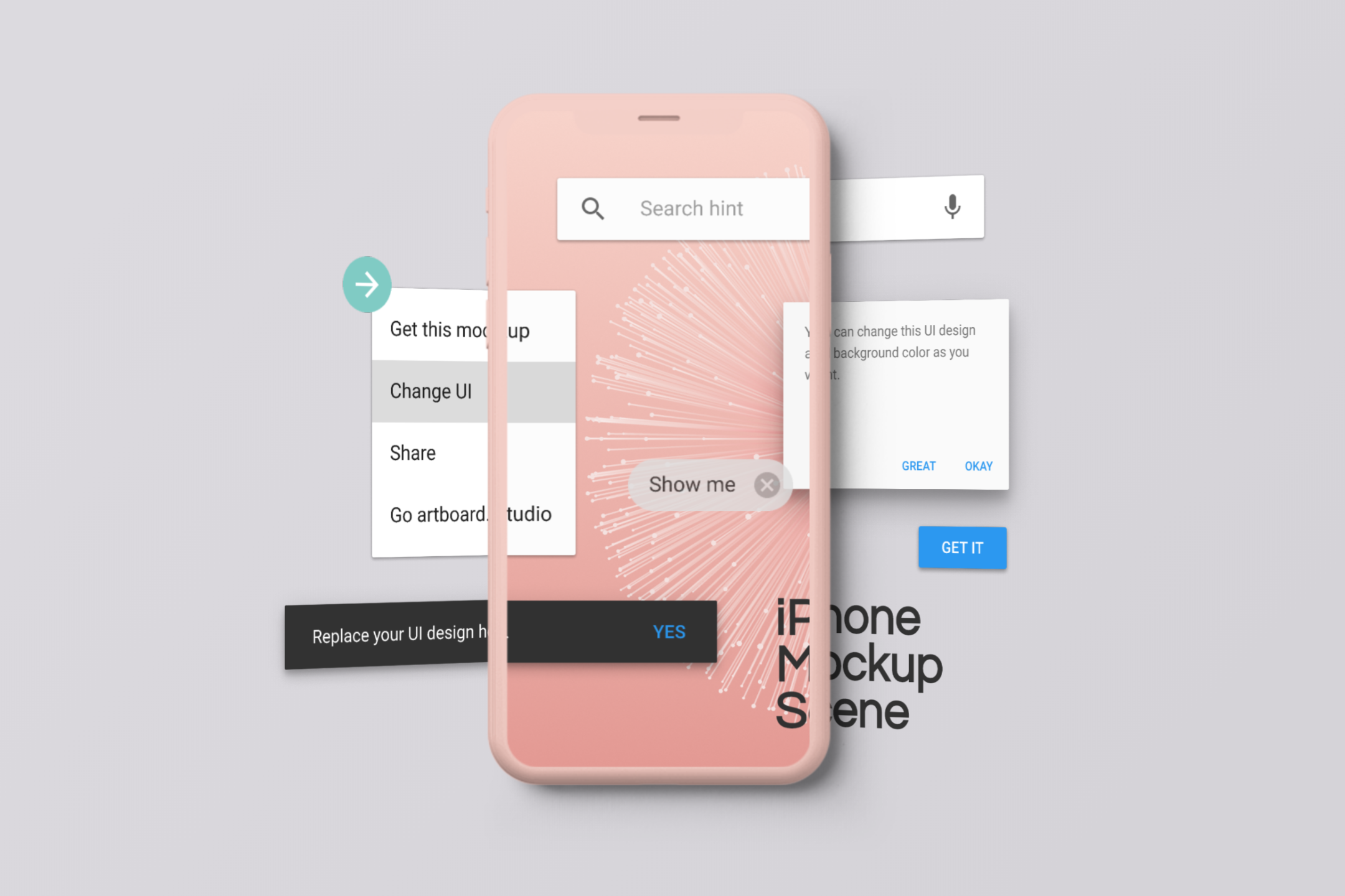 Multiple Screens Iphone Mockup Scene Iphone Mockup Free Mockup Templates Templates