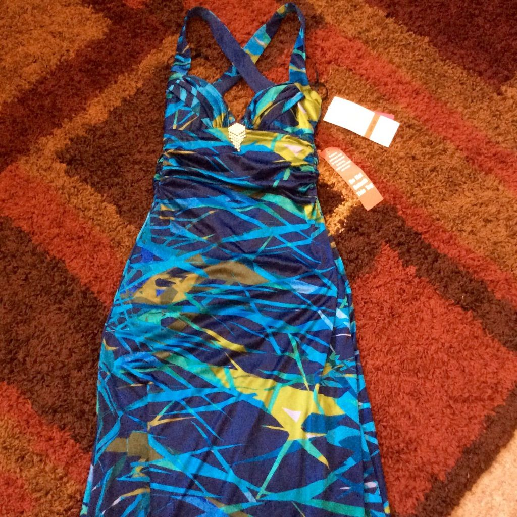 Blue topical prom wedding dress products