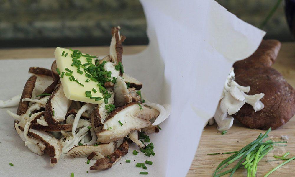 Papilotte de cogumelos