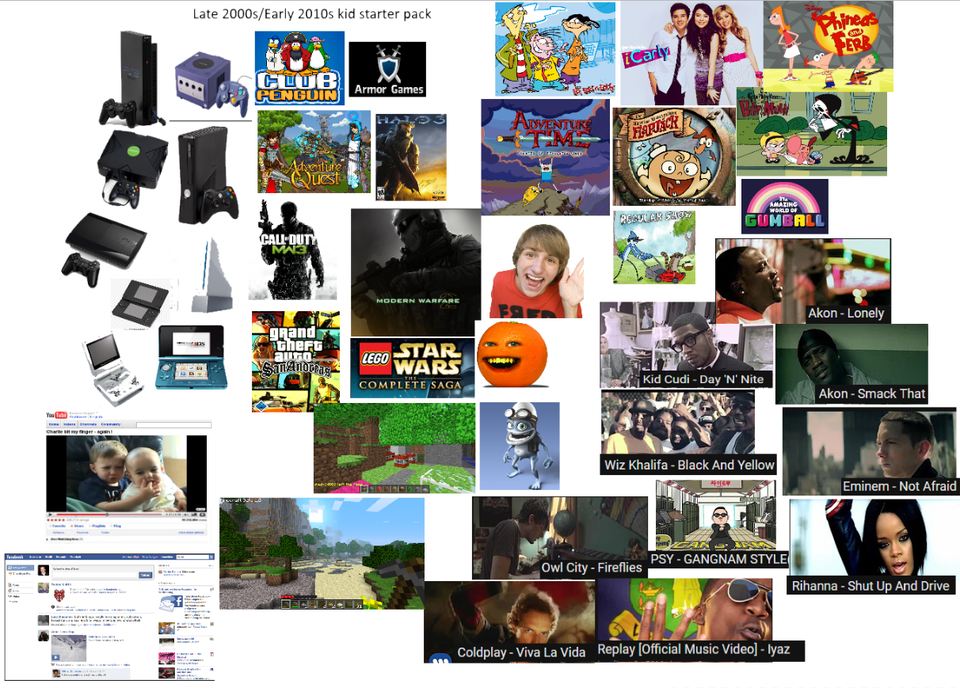 Late 2000s/Early 2010s kid starter pack GenZ in 2020