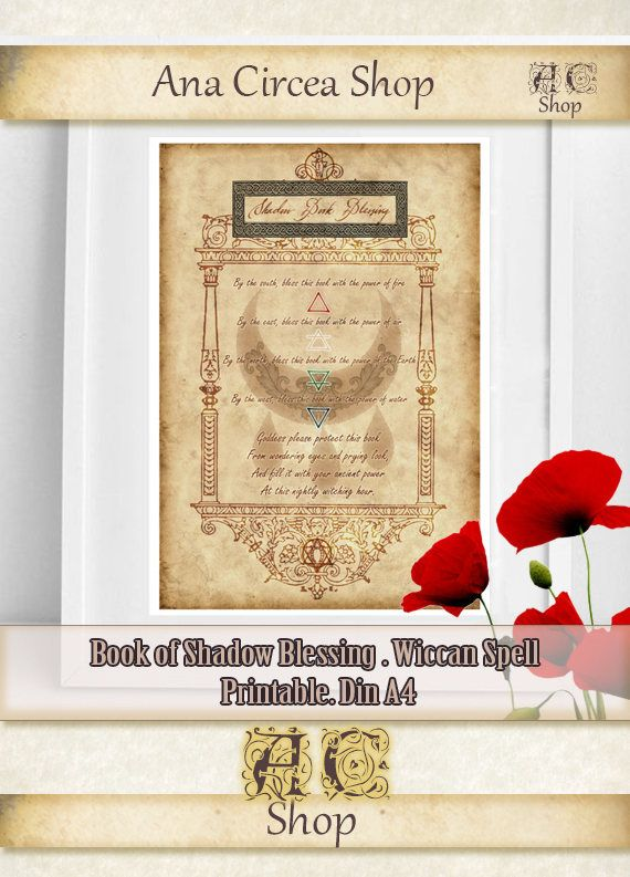 Book of Shadow Blessing . Wiccan Blessing Spell . Magic spell craft ...