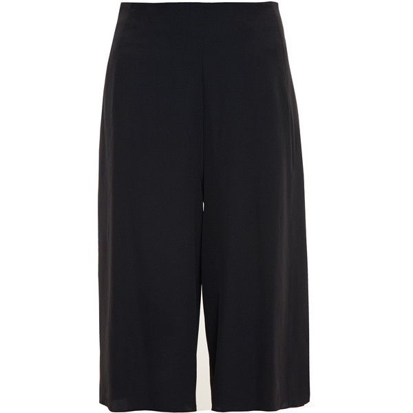 ACNE STUDIOS Mala Silk Culottes (675 CAD) ❤ liked on Polyvore featuring pants y acne studios