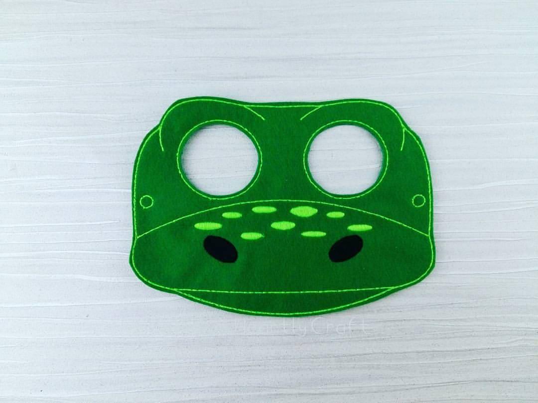 Dinosaur Mask - Felt Dinosaur mask - Green Dinosaur - Arlo ...