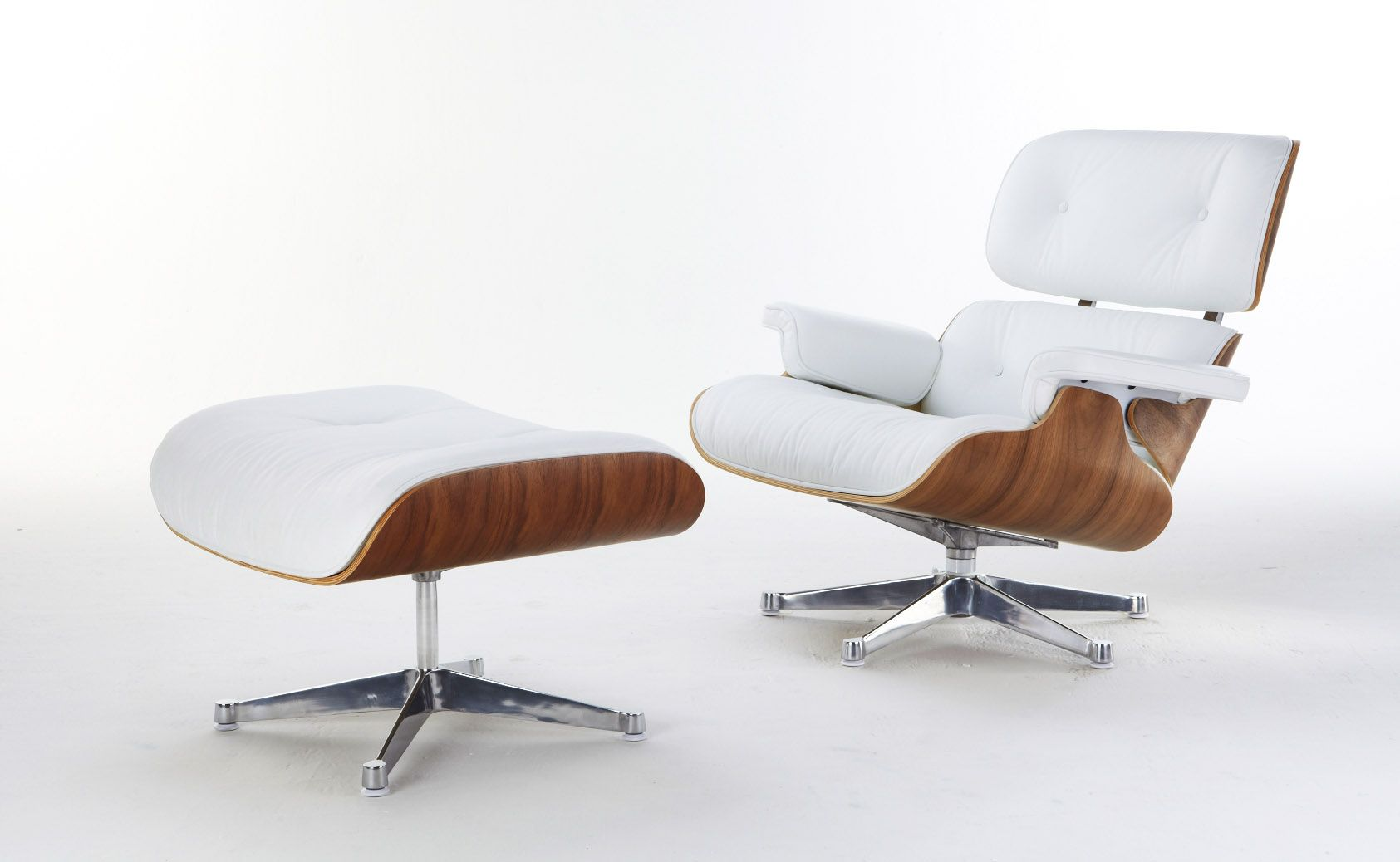 Eames Lounge Chair White Leather Eames Lounge Chair