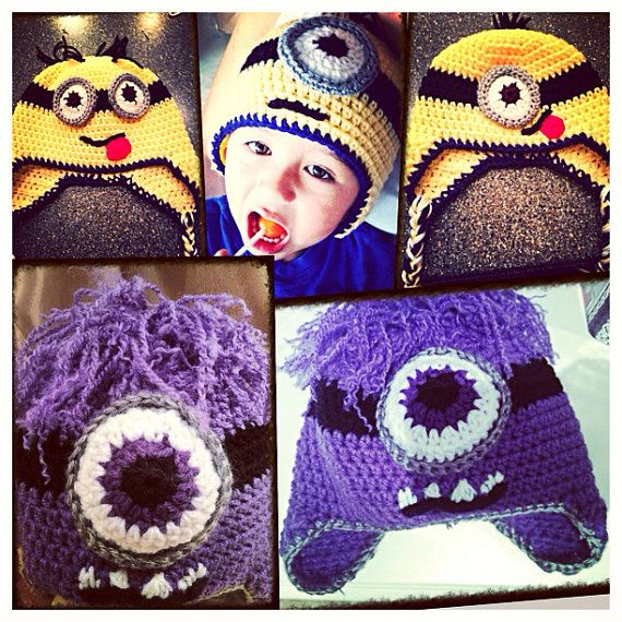 Despicable Me minion crochet hat by PattyCakesCrochet on Etsy ...