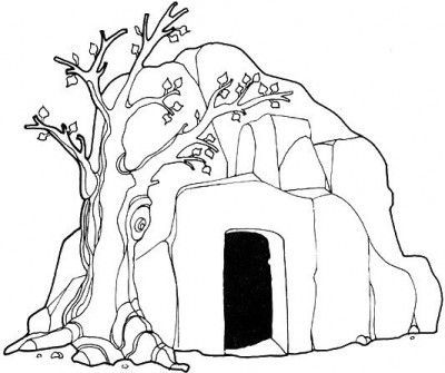 Jesus Risen Empty Tomb of Jesus Coloring pages for kids Christmas - new coloring pages for christmas story