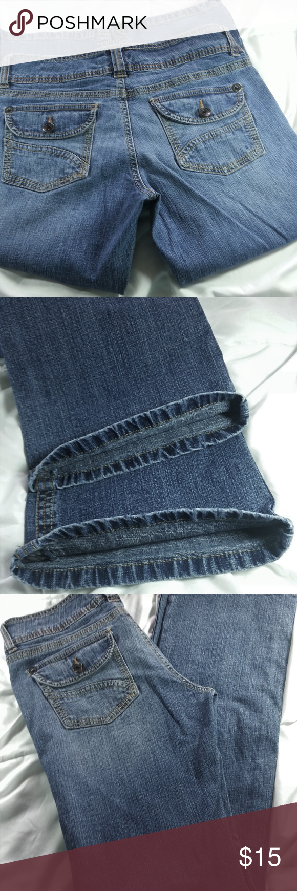 Unionbay Madison Size 8 Bootcut Back Flap Pockets Waist: 16