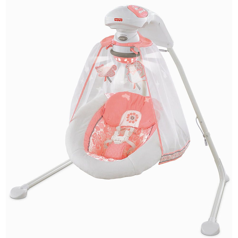 Fisher Price Deluxe Cradle Swing Coral Floral Fisher