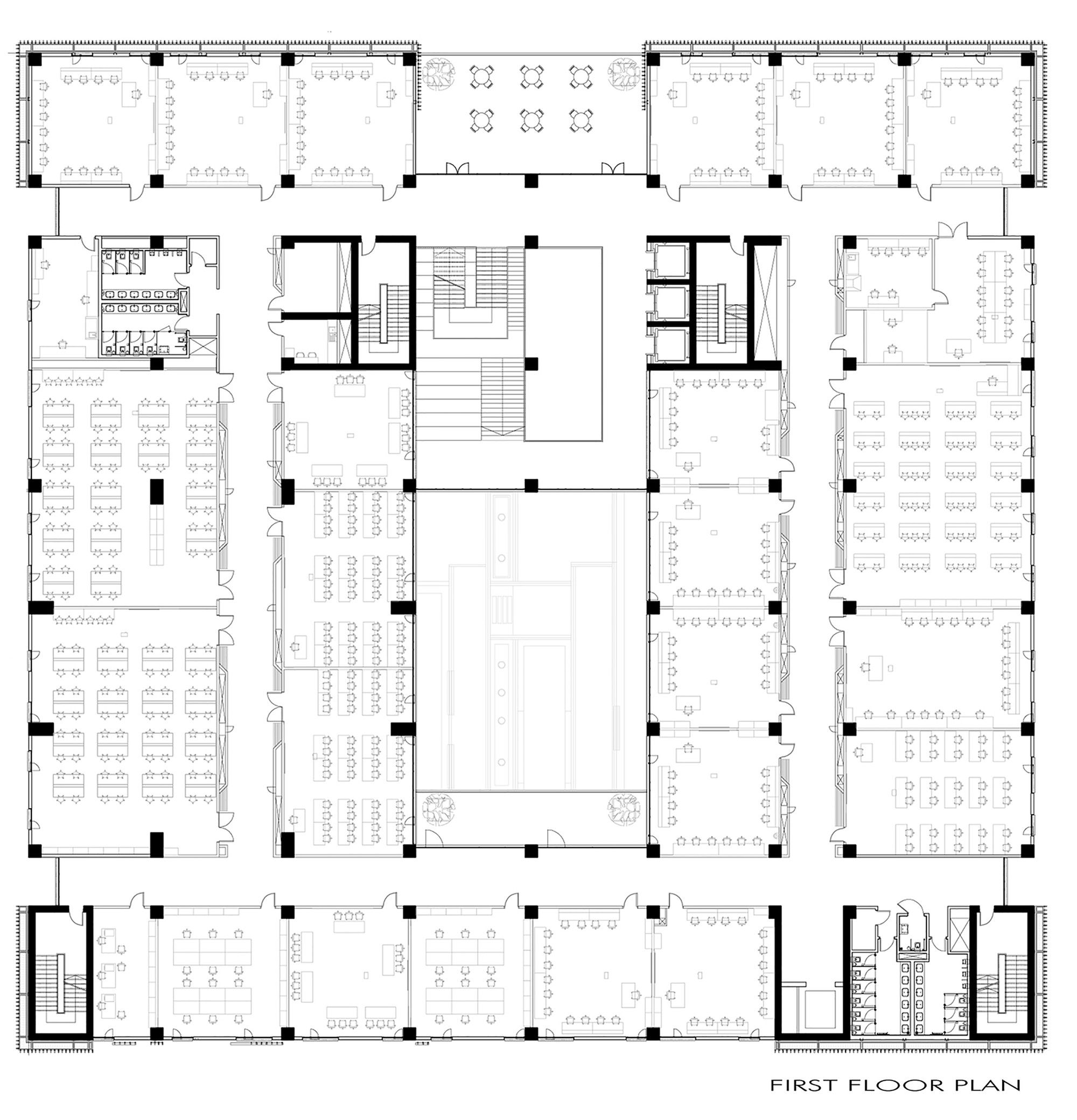 Tobb Etü Technology Center,First Floor Plan | Teino's technicality: https://www.pinterest.com/pin/368943394455104110/ | Re subsidiary: iTB Software Technologies factory interior architectural presentation (via link) enculpulating one building block complex of three at prototype base of M-form Teino's Corp C.A: https://www.pinterest.com/pin/368943394455109938/