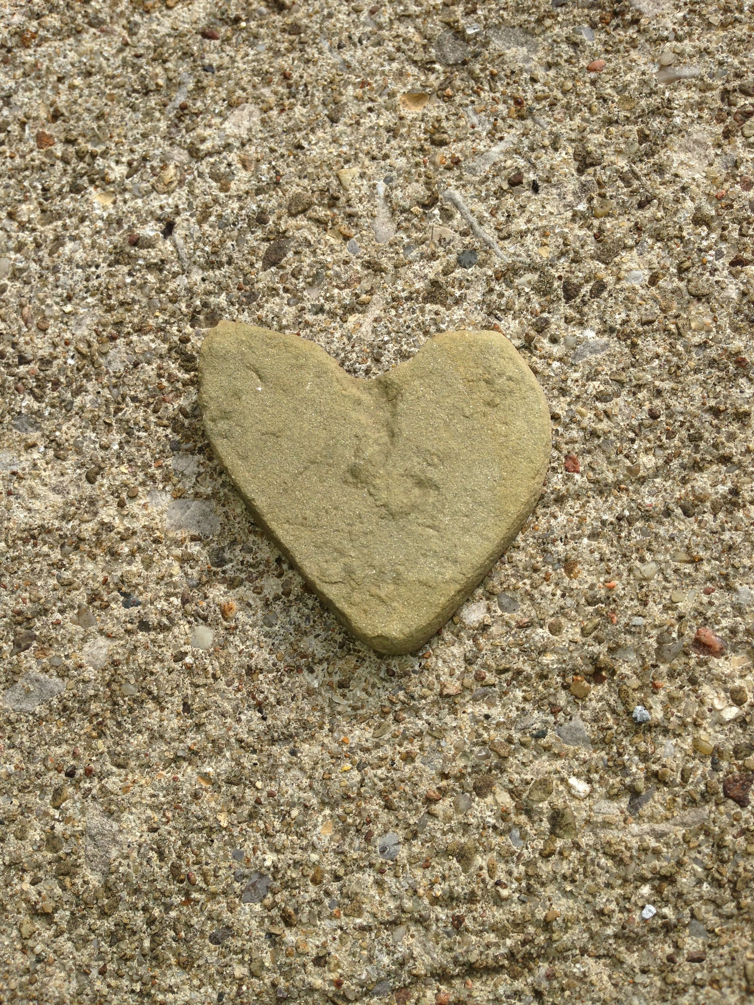 Found this amazing heart shaped rock in my work parking lot yesterday. It's a good sign my heart is in the right place!