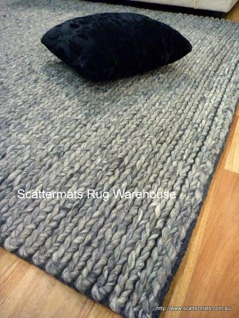 599 Wool Rugs Lux Charcoal Wb02