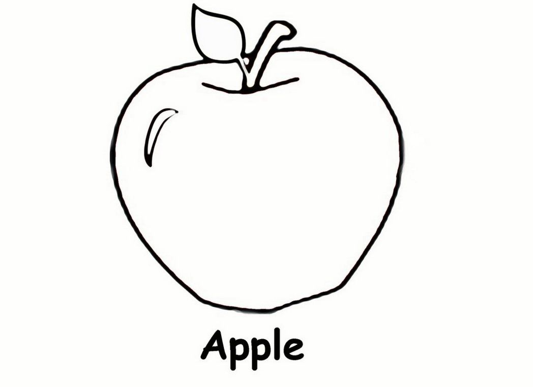Preschool Coloring Pages And Worksheets Apple Coloring Pages