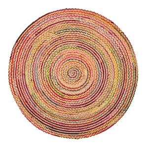 Petrolia Hand Braided Cotton Yellow/Red Area Rug