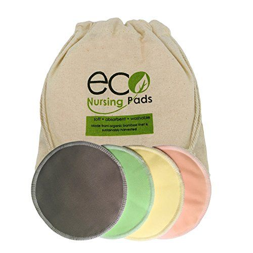 Washable Organic Bamboo Nursing Pads- 8 Pack (4 Pair) Reusable Breast Pads with Leakproof Back by EcoNursingPads EcoNursingPads http://www.amazon.com/dp/B014APDYD0/ref=cm_sw_r_pi_dp_D9KZwb0SEK0CG