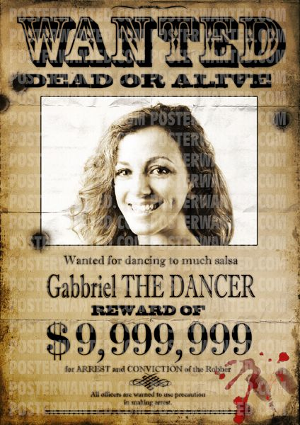 customized wanted poster