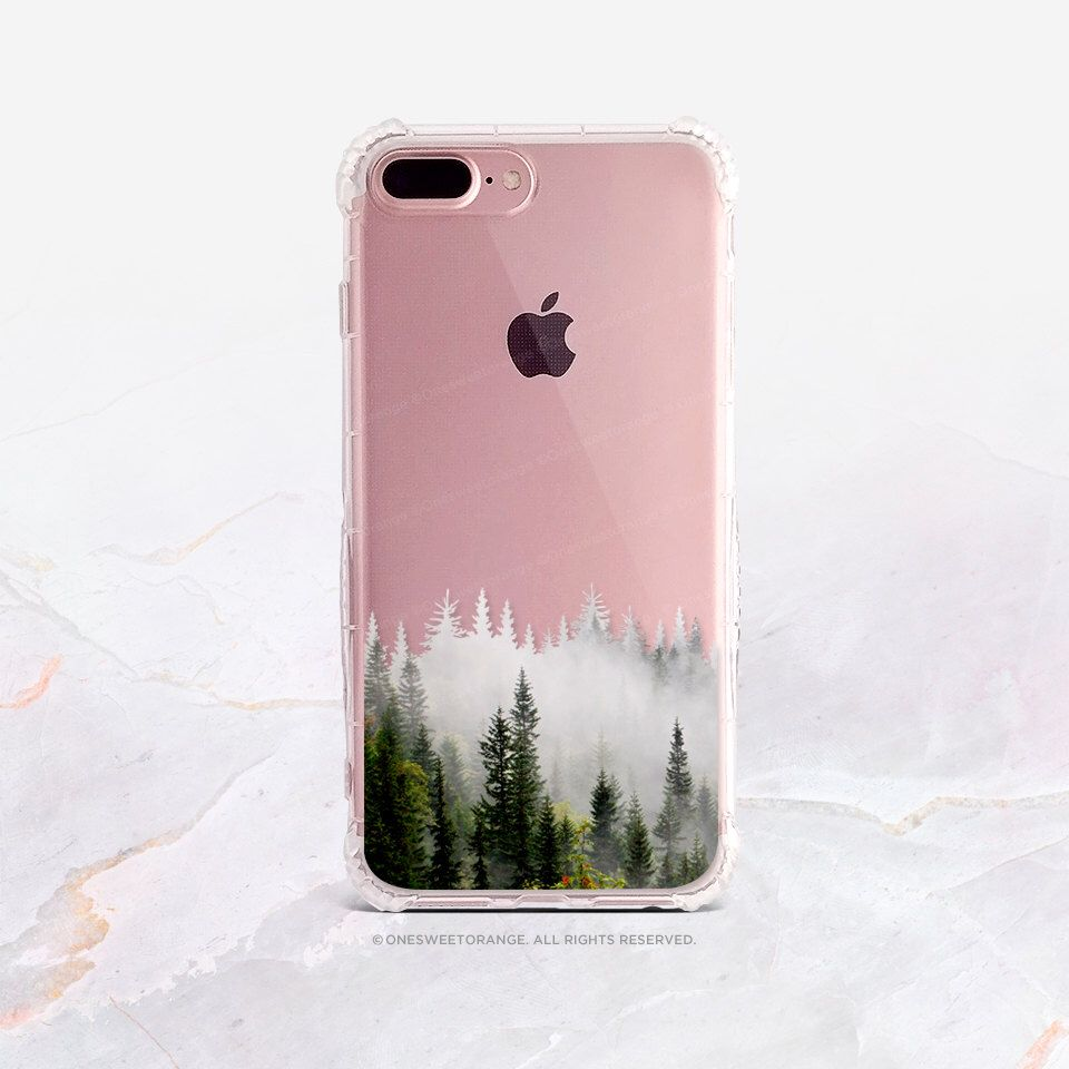 iPhone 7 Forest Fog Clear GRIP Rubber Case iPhone 7 Plus Clear Case iPhone 6 Case iPhone 6S Case iPhone SE Case Samsung S7 Edge Case U112 by HelloNutcase on Etsy https://www.etsy.com/listing/293221729/iphone-7-forest-fog-clear-grip-rubber