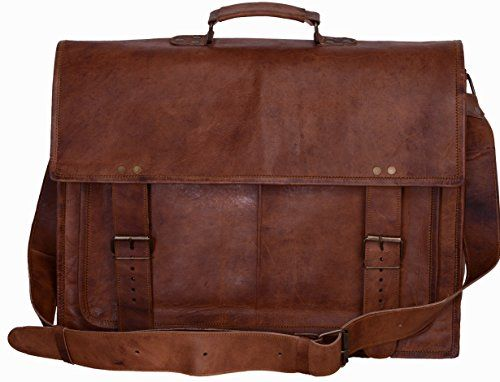 df6a0cfc4610 Komals Passion Leather 16 Inch Genuine Business Leather Laptop ...