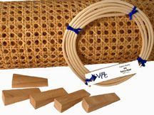 Pre-woven Cane Webbing, Kits, Spline & Wedges at V. I. Reed & Cane Inc., Seat Weaving Supplies   Page 1 of 1