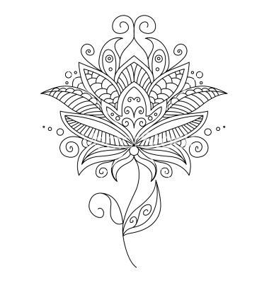 Pretty ornate delicate floral design element vector - by Seamartini on VectorStock®