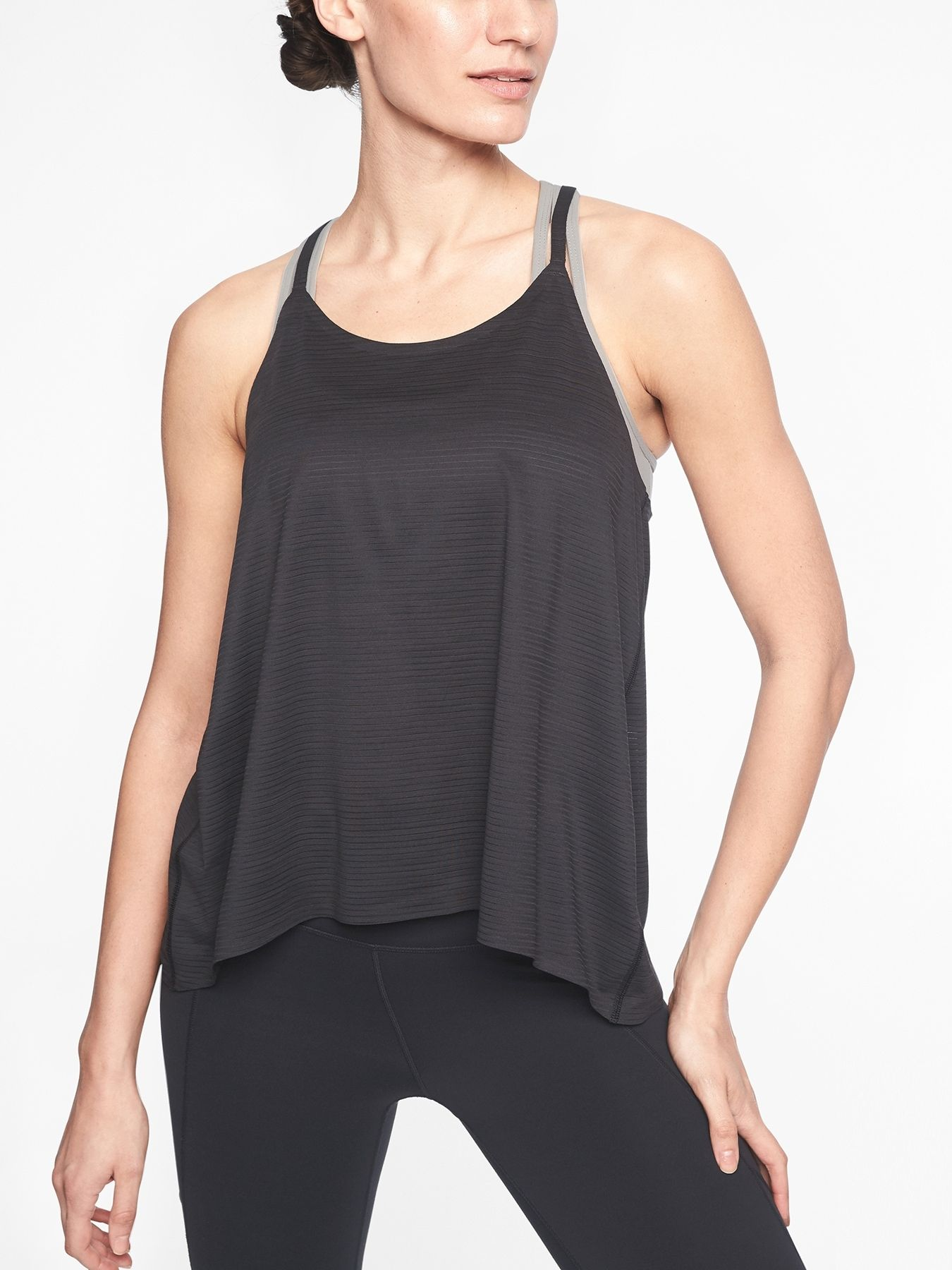 f453ed11f5 Chi Shadow Stripe Strappy Tank | Wish List | Athletic tank tops ...