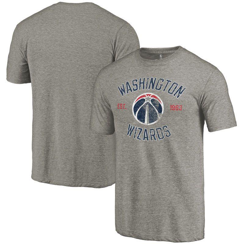 brand new d4385 1b54e Washington Wizards Heritage Tri-Blend T-Shirt - Gray. Washington Wizards  Fanatics Branded ...